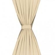 Draperii opace, 2 buc, strat dublu, 140 x 175 cm, bej