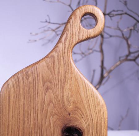 Platou servire din lemn nature 49 cm