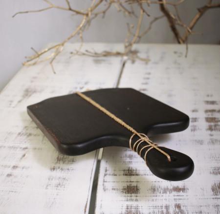 Platou servire din lemn negru 48 cm