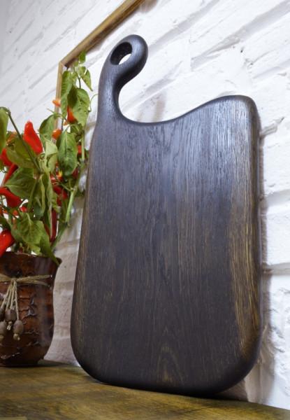 Platou de servire din lemn negru 49cm-23 cm-2.5 cm