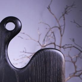 Platou servire din lemn negru 55cm - 27 cm - 2.5 cm