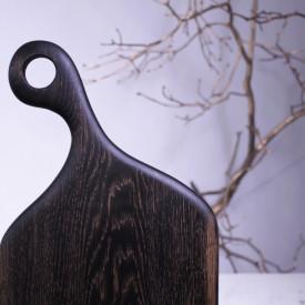 Platou servire negru pentru branzeturi 49 cm
