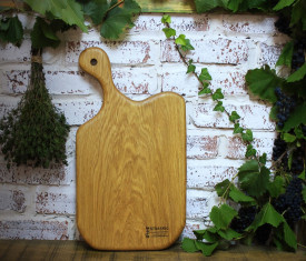 Platou de servire din lemn cu maner