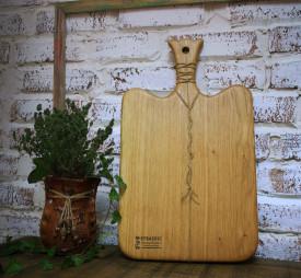 Platou servire din lemn stejar 50 cm - 27cm - 2cm