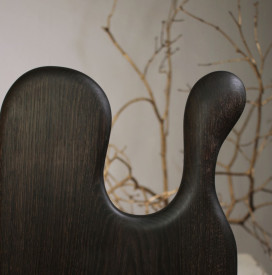 Platou servire din lemn negru