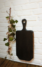 Platou de servire din lemn negru 59 cm-27 cm -2.5 cm