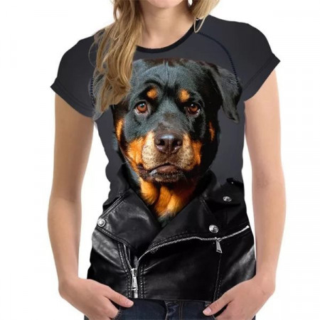Tricou 3D Femei Cool Dog