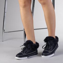Papuci Dama Crazy Imblaniti Navy