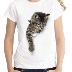 Tricou 3D Femei The Cat Escapes