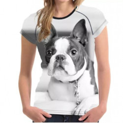 Tricou 3D Femei Boston Terrier Dog