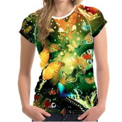 Tricou 3D Femei Butterflies Everywhere