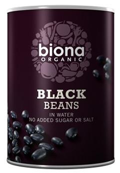 Fasole neagra boabe conserva bio 400g Biona