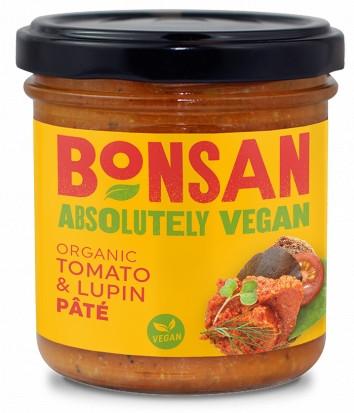 Pate vegetal cu rosii si lupin eco 140g Bonsan