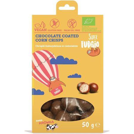Porumb crispy invelit in ciocolata bio 50g