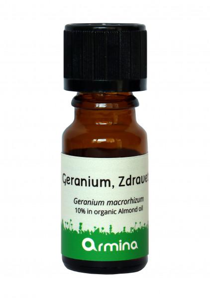 Ulei Esential De Geraniu (Geranium Macrorhizum) Bio 10Ml Armina