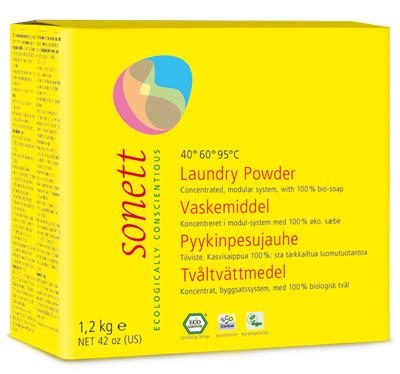 Detergent Ecologic Praf Pt. Rufe 1.2Kg Sonett