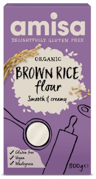 Faina de orez brun fara gluten eco 500g AMISA
