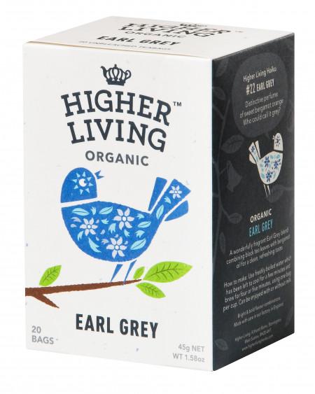 Ceai EARL GREY eco, 20 plicuri, Higher Living