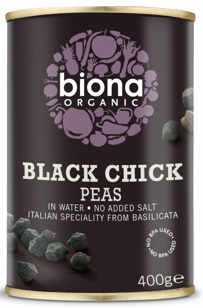 Naut negru eco la conserva 400g Biona