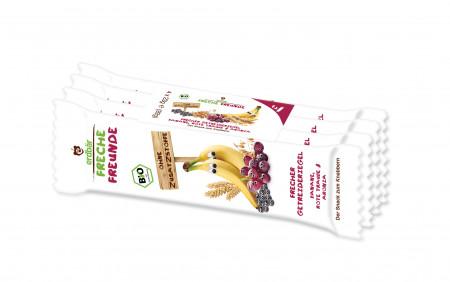 Baton Din Cereale Cu Banane, Struguri Si Aronia Bio 4 Buc X 23G