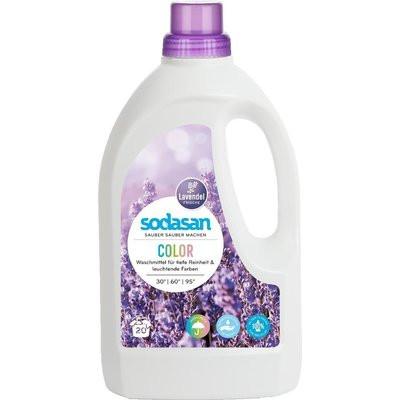 Detergent bio lichid rufe albe si color lavanda 1.5l Sodasan