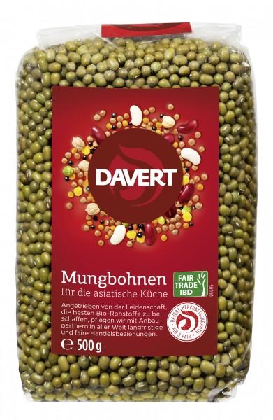 Fasole mung bio 500g Fairtrade, DAVERT