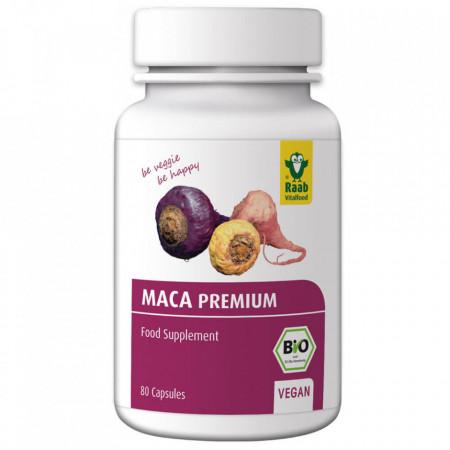 Maca premium bio 500mg, 80 capsule vegane RAAB