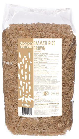 Orez basmati brun eco 500g Smart Organic