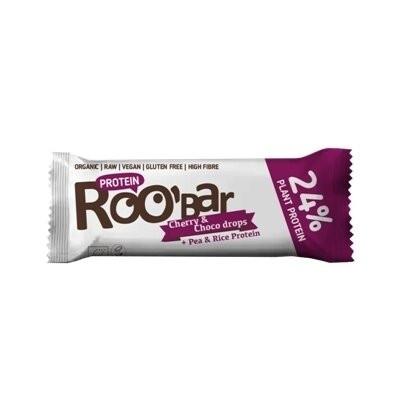 Baton proteic cirese ciocolata raw eco 40g Roobar