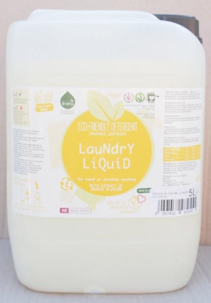 Biolu Detergent ecologic lichid pentru rufe albe si colorate portocale 5L