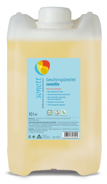 Detergent Ecologic Pt. Spalat Vase - Neutru 10L Sonett