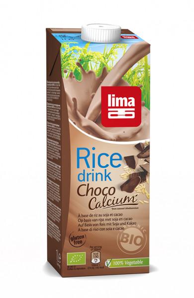 Bautura vegetala de orez cu ciocolata cu calciu eco 1L Lima