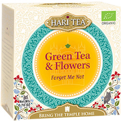 Ceai premium Hari Tea - Forget Me Not - ceai verde si flori bio 10dz