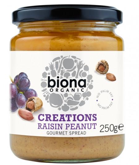 Crema de stafide si arahide bio 250g Biona