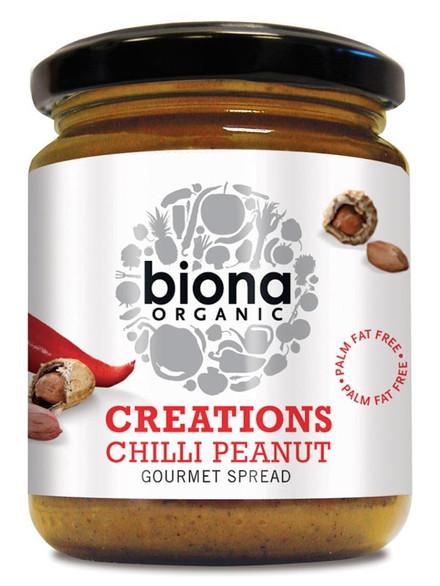 Crema tartinabila cu arahide si chilli eco 250g Biona