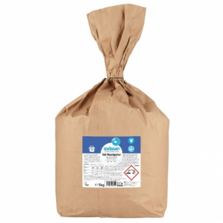 Detergent praf bio pentru spalari grele 5kg Sodasan