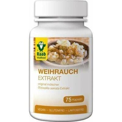 Frankincense (tamaie) extract 500mg, 75 capsule vegane RAAB