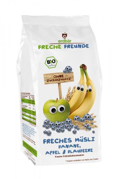 Musli Cu Banane, Mere Si Afine Bio 200G