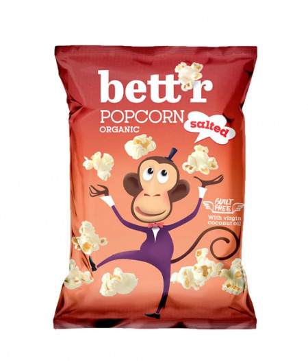 Popcorn cu sare bio 60g Bettr