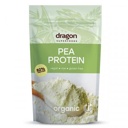 Pudra proteica din mazare eco 200g (Dragon Superfoods)