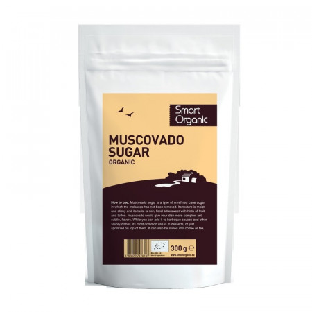 Zahar brun Muscovado eco 300g Smart Organic