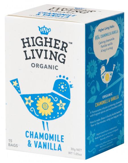 Ceai musetel si vanilie eco, 15 plicuri, Higher Living