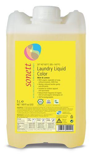 Detergent Ecologic Lichid Pt. Rufe Colorate - Menta Si Lamaie 5L Sonett