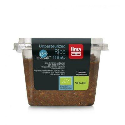 Pasta Miso de orez si soia nepasteurizata cu continut redus de sare eco 300g