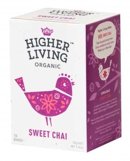 Ceai SWEET CHAI eco, 15 plicuri, Higher Living
