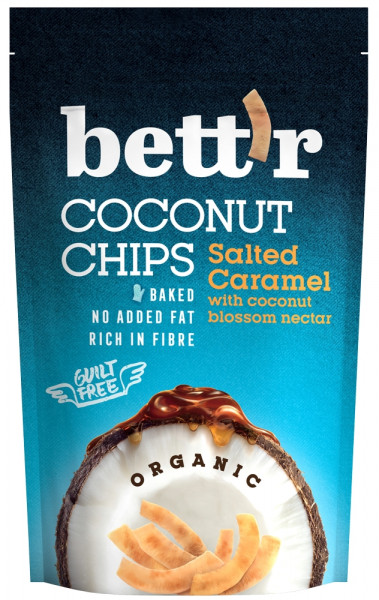 Chips de cocos si caramel sarat eco 70g BETTR