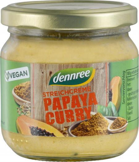 Crema tartinabila cu papaya si curry bio 180g Dennree