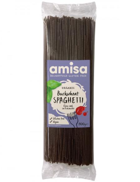 Spaghetti din hrisca integrala eco 500g AMISA