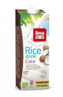 Bautura vegetala de orez cu cocos eco 1L Lima