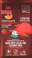 Ciocolata cu capsuni bio 80g Super Fudgio